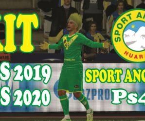 KIT DE SPORT ANCASH PARA PES 2019 Y PES 2020 PARA PS4
